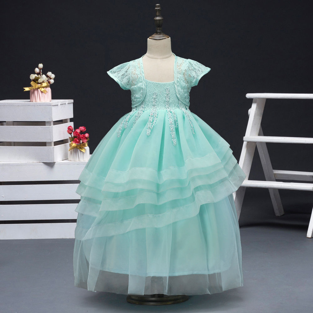 Hopscotch - Si Rosa - Mint Gown Party Dress with Shrug