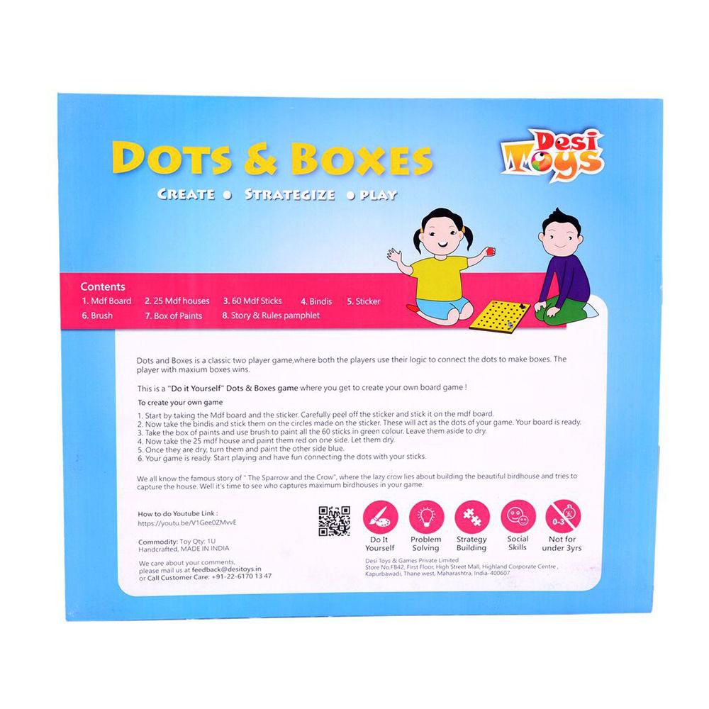 Hopscotch Desi Toys Diy Dots Boxes Game