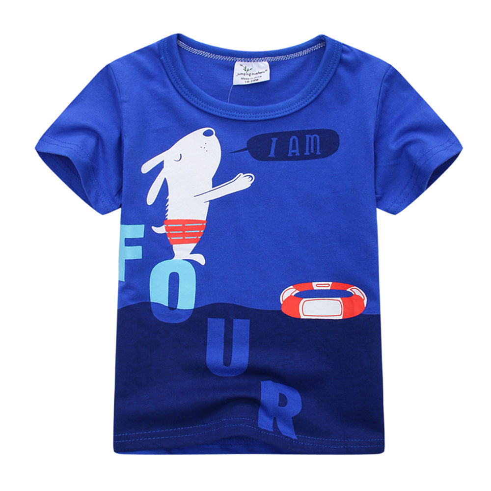 0fcb4f0aff Hopscotch - Jumping Meters - Blue Animal Print T-Shirt