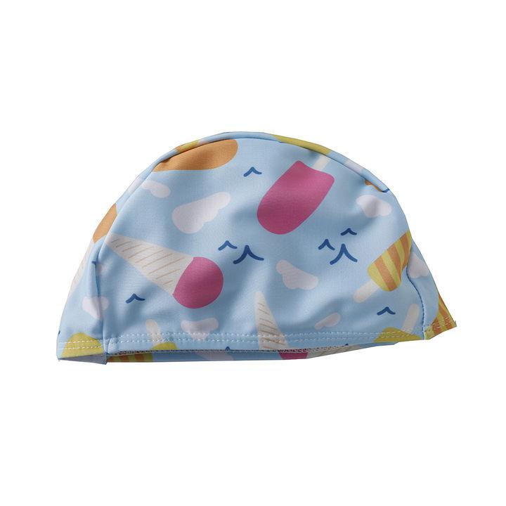 ca8f34f7772b6c Hopscotch - WNX - Ice-Cream Printed Blue One Piece Swimsuit with Cap