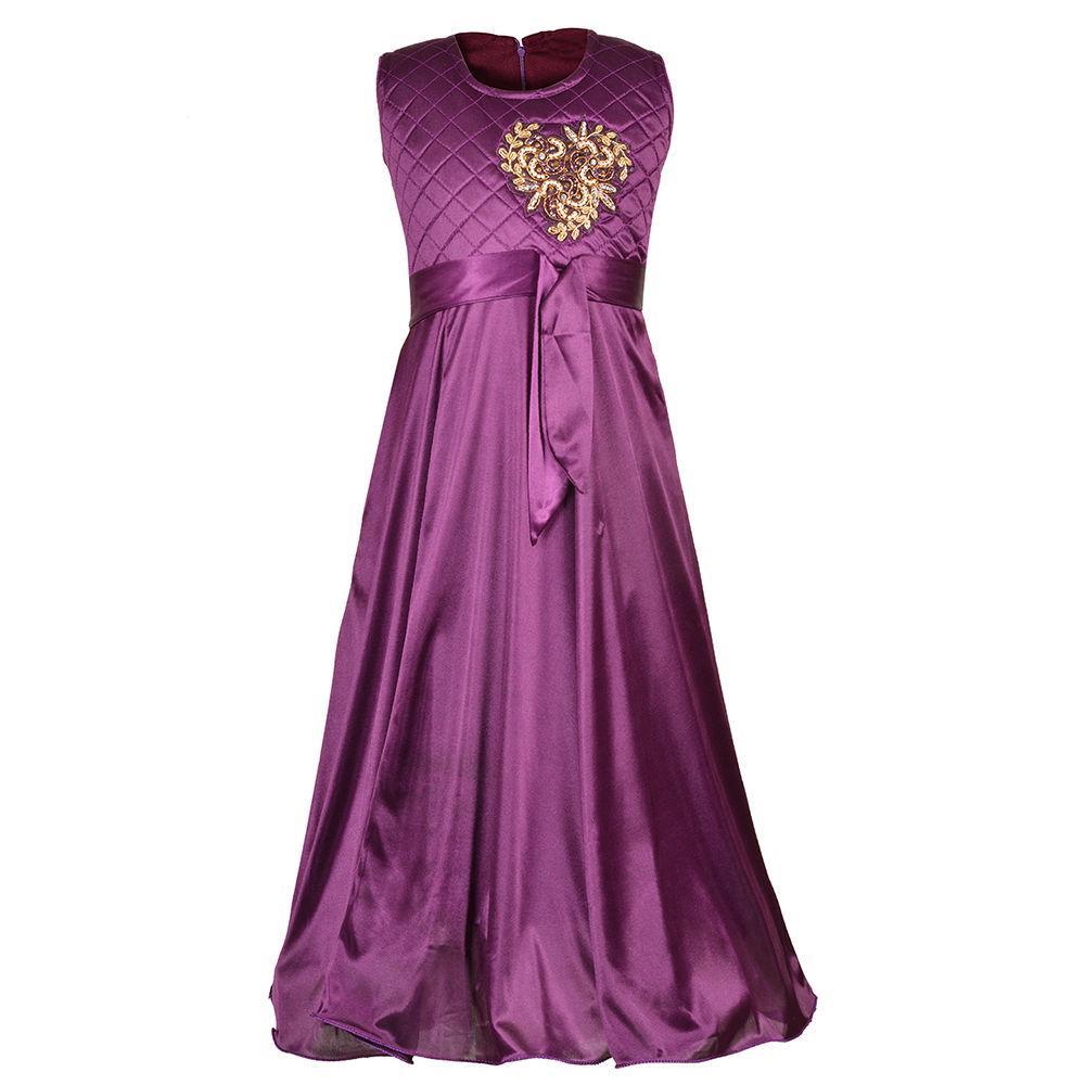 Hopscotch - Aarika - Girl\'s Designer Party Wear Gown Purple