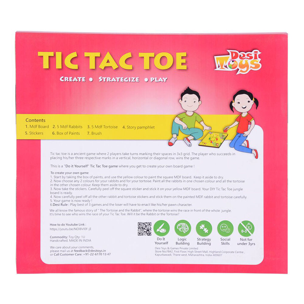 Hopscotch desi toys diy tic tac toe with tortoise the rabbit see similar solutioingenieria Image collections