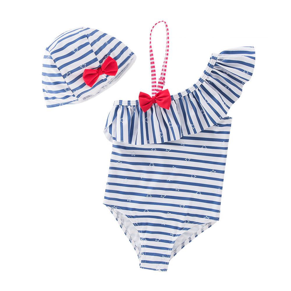 14e4a7c96b32c Hopscotch - Sweeti SW - Blue Trendy One Piece Swimsuit