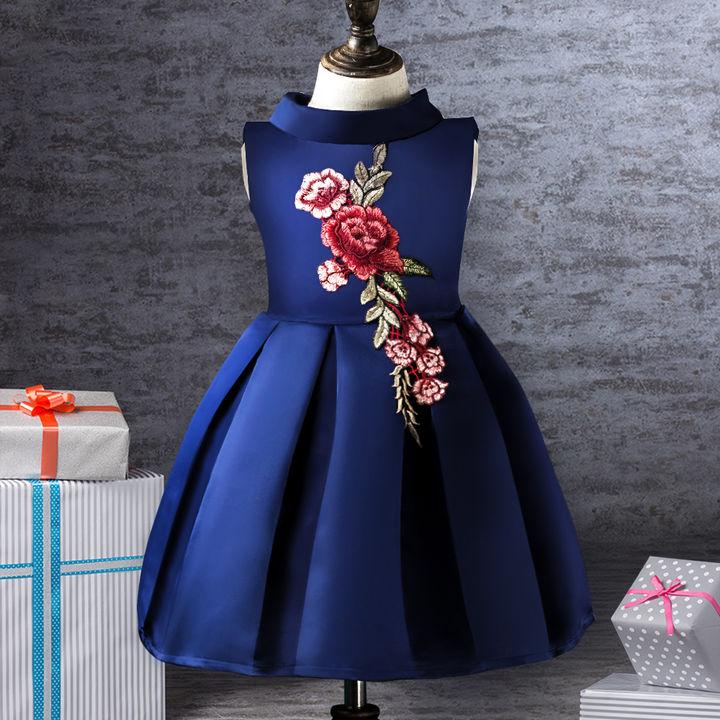 1e551d6bce54 Hopscotch - Si Rosa - Blue Floral Design Party Dress