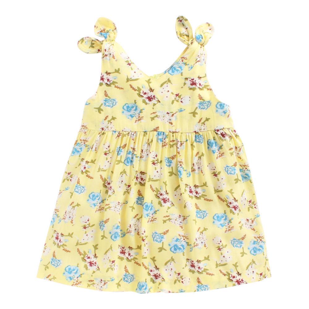 Hopscotch piccolo flowers printed yellow dress mightylinksfo