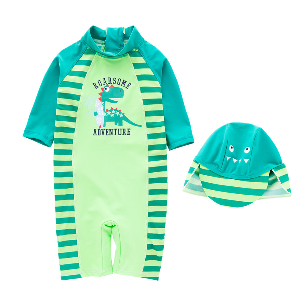 9915f153ef91b Hopscotch - Sweeti SW - One Piece Swimsuits With Cap - Green