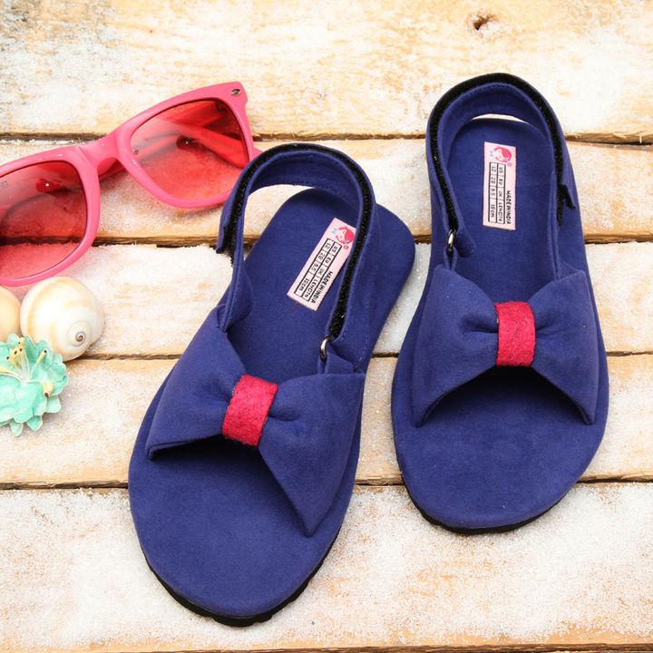 ddd30f892e21 Hopscotch - Dchica - Fashionistas Love Blue Sandals For Girls