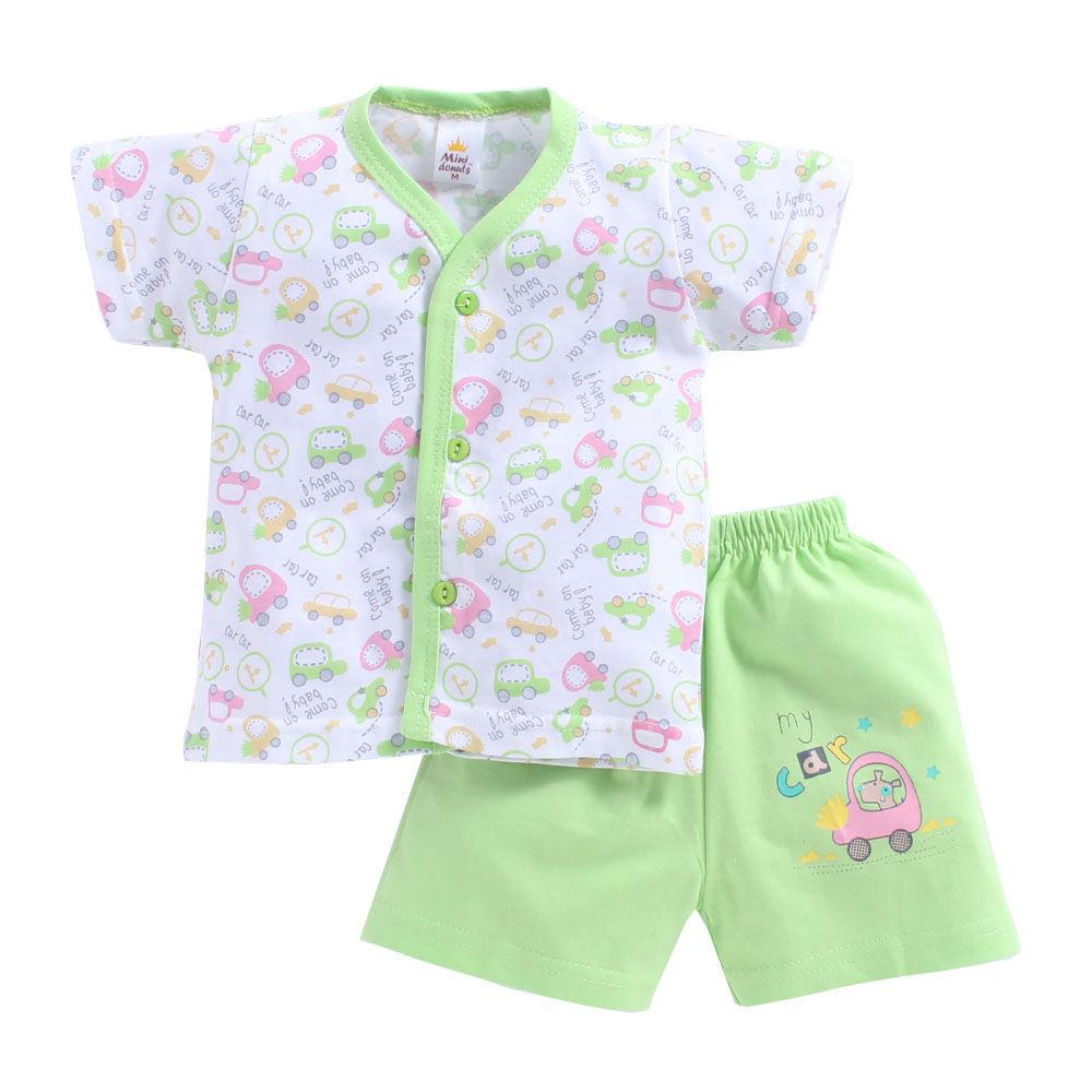 6a06ed41048f Hopscotch - Mini Donut - Fun Tour Print Green Jabla and Shorts Set