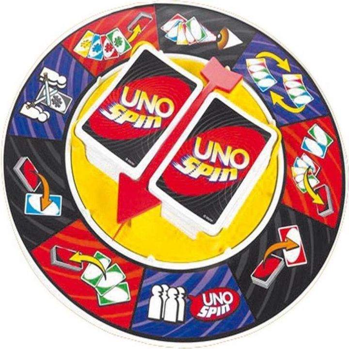 Uno Spin Wheel Card Family Board Game