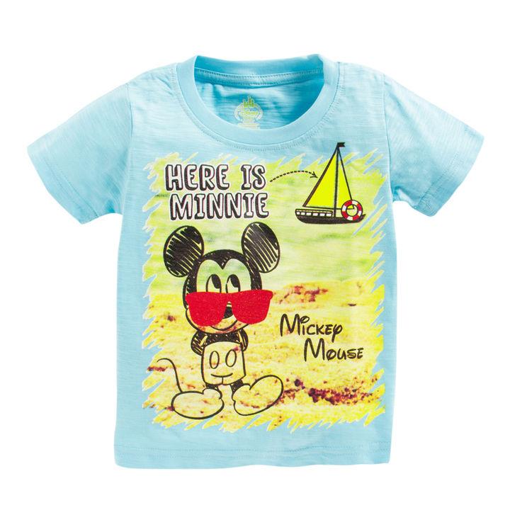 c28e74766 Hopscotch - BodyCare - Blue Mickey Mouse Print T-Shirt