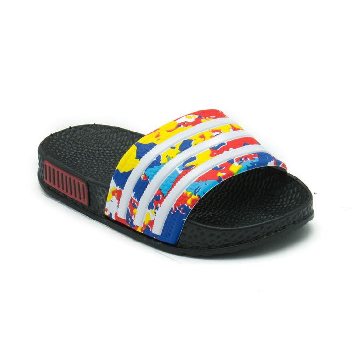 c3dc440eb769 Hopscotch - Seven Rainbows - Black Slippers For Boys