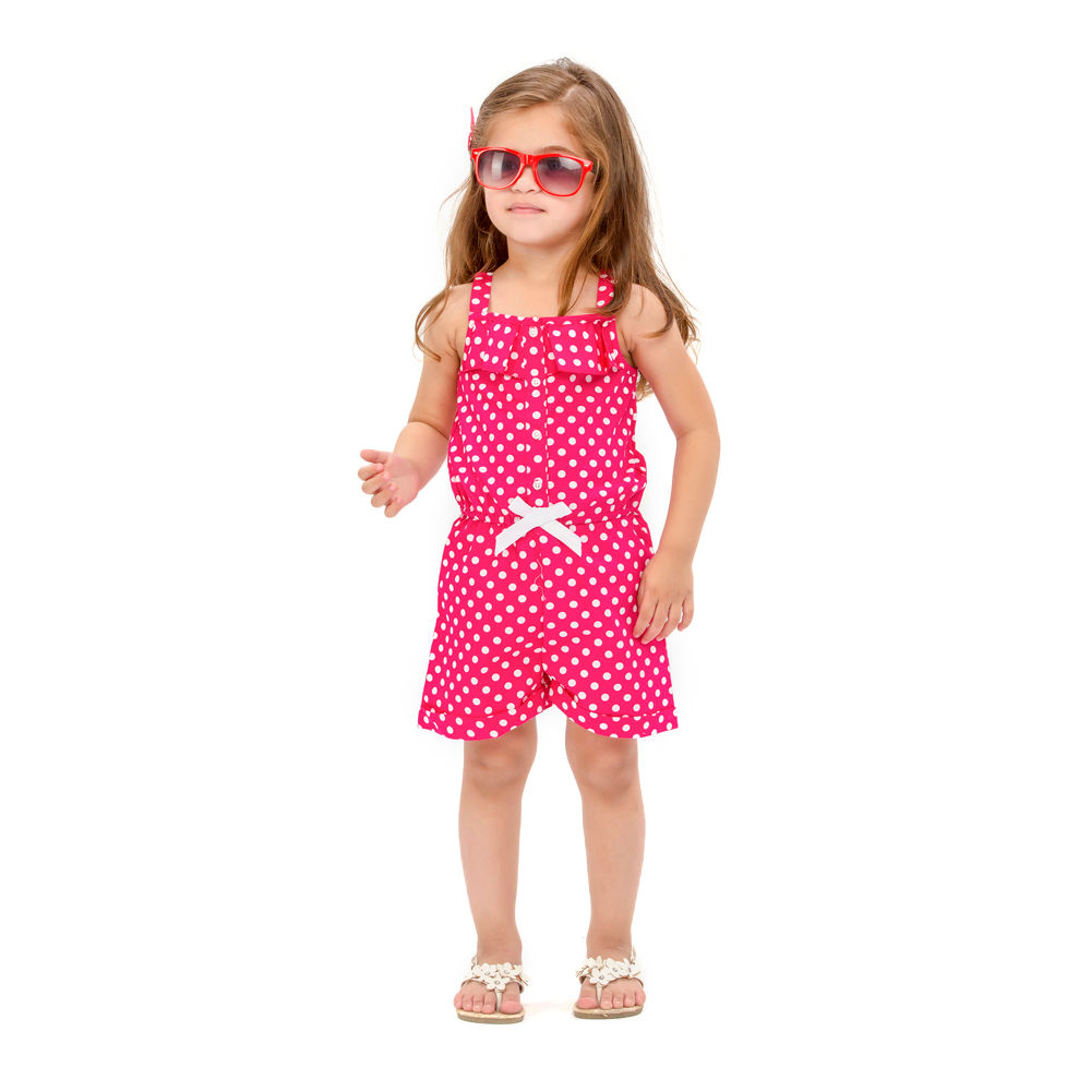 49b2d947160 Hopscotch - The KidShop - White Polka Dots On Pink Jumpsuit