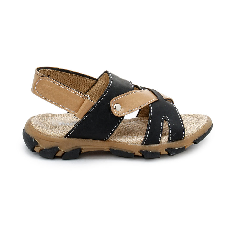 c5aeeb0a619b Hopscotch - Shoe Biz - Black And Beige Open Toe Sandals