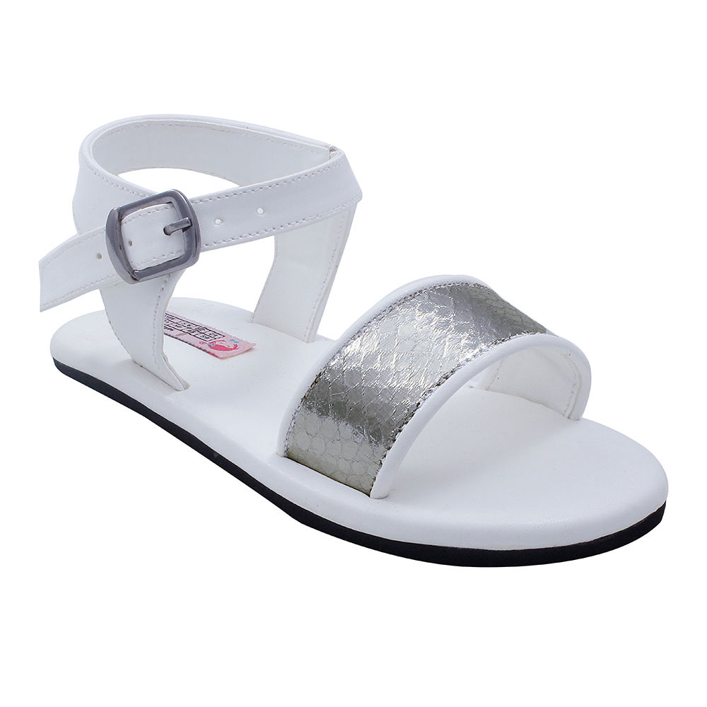 56eefcbf029f Hopscotch - Dchica - Blingy White Sandals For Girls