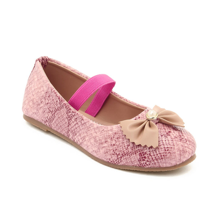 6171a2e06e972f Hopscotch - My Soul By Chiu - Pink Snake Skin Print Ballerinas With Bow