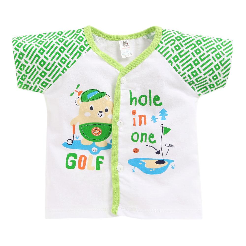 5cb57260a5be Hopscotch - Seven Rainbows - Golf Print Green Jabla and Shorts Set