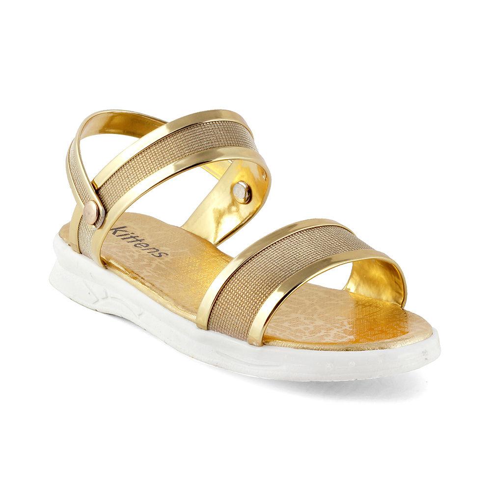 Gold Back With Metallic Strap Sandals SzVUpM