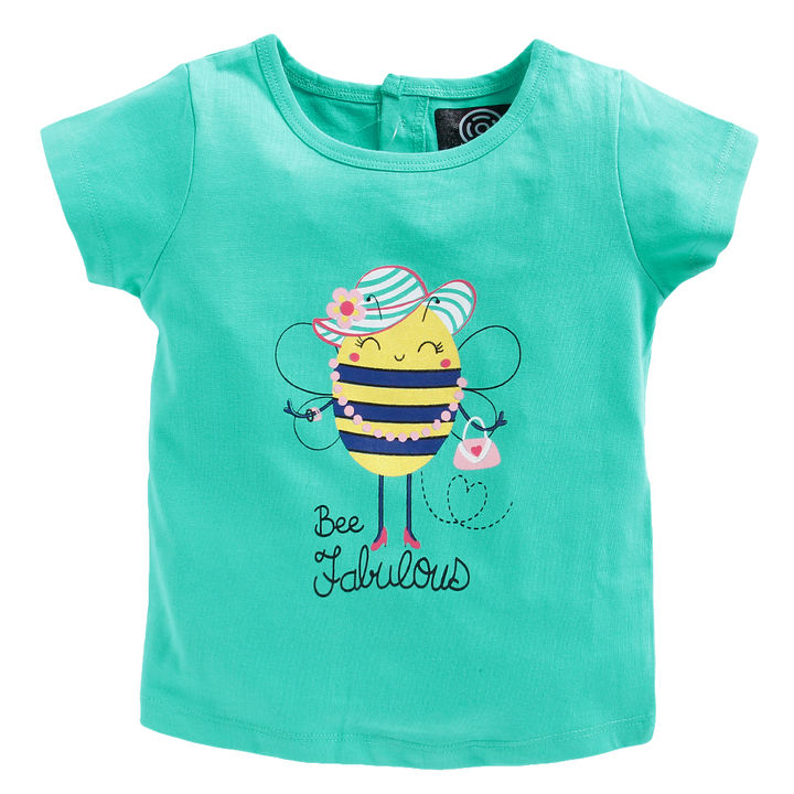 cb2c77496 Hopscotch - Tambourine - Blue Bee Print T-Shirt and Bloomer Set