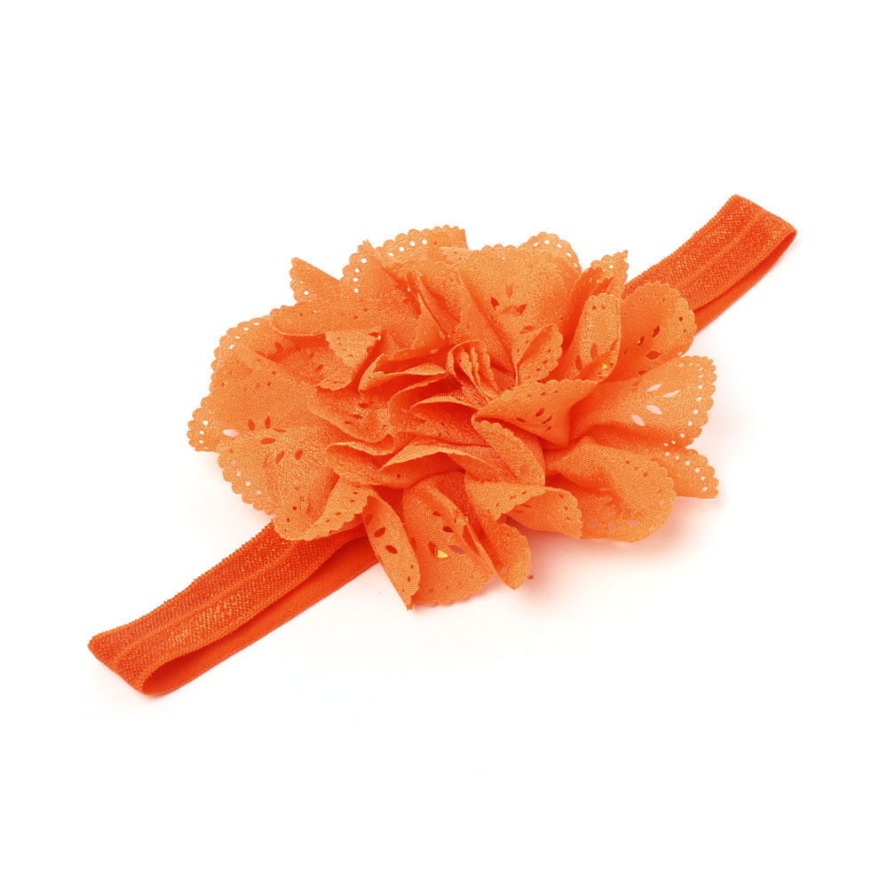 Hopscotch - Pikaboo - Small Cutwork Flower Headband - Orange 2a0b3c4361a