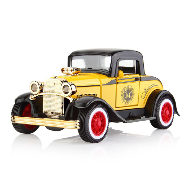 Battery Operated Die Cast Metal Vintage Car with Light & Sound