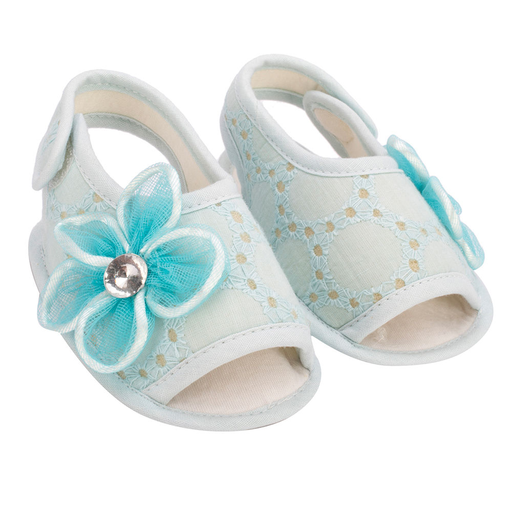 Blue With Sandals With Blue Sandals Flowers Flowers Fl1cJTK3
