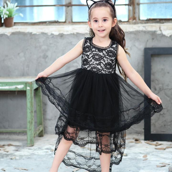 d1a20a78fb2e3 Black High Low Dress