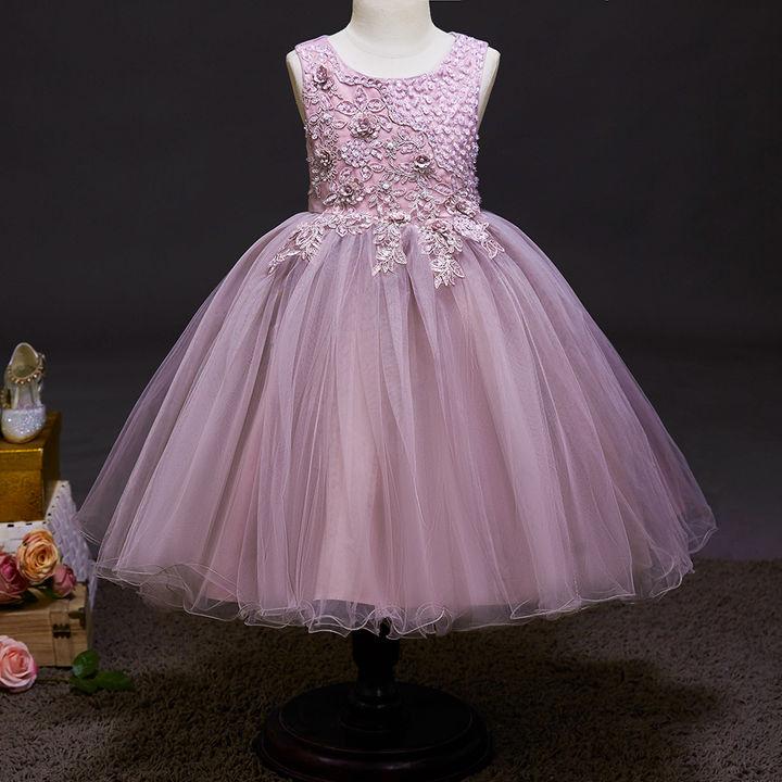 10cd0244addc10 Hopscotch - Si Rosa - Cute Lilac Applique Sleeveless Dress