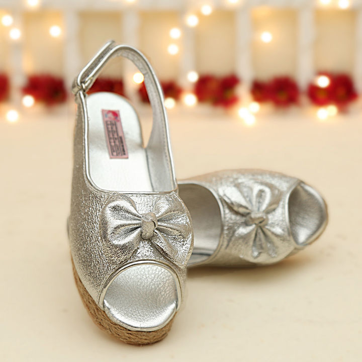 ee7d618f48bd Hopscotch - Dchica - Blingy Silver Wedge Heels