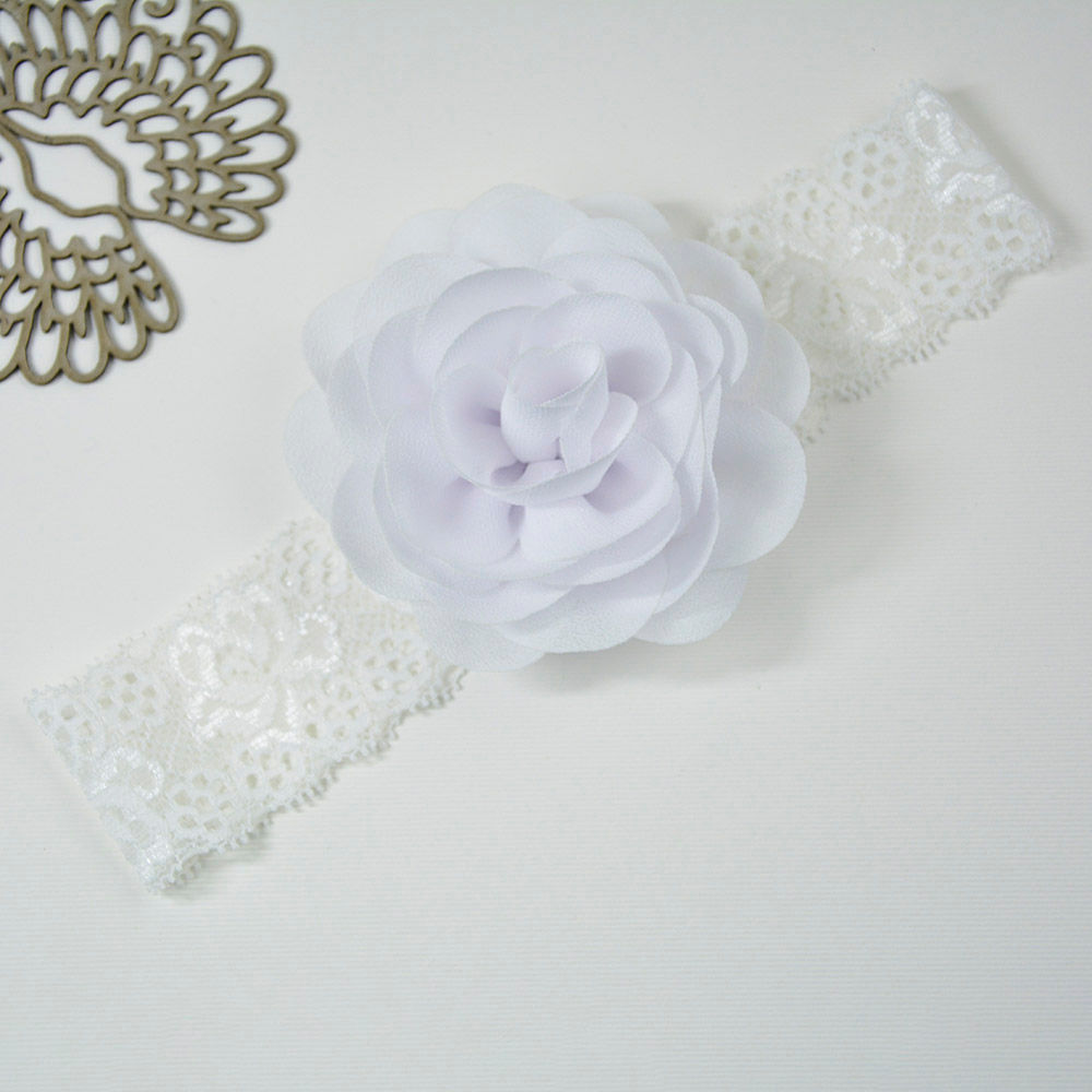 Hopscotch Little Miss Cuttie White Headband With Flower