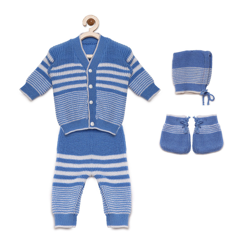 34d36a413 Hopscotch - Mayra Knits - Blue Stripe Sweater with Pant