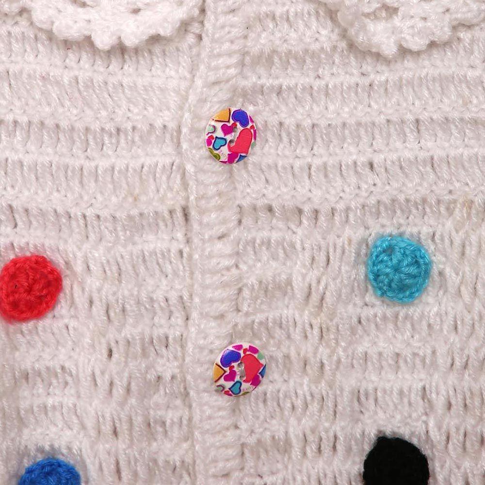 237828d98 Hopscotch - Mayra Knits - White Polka Dot Sweater and Cap Set