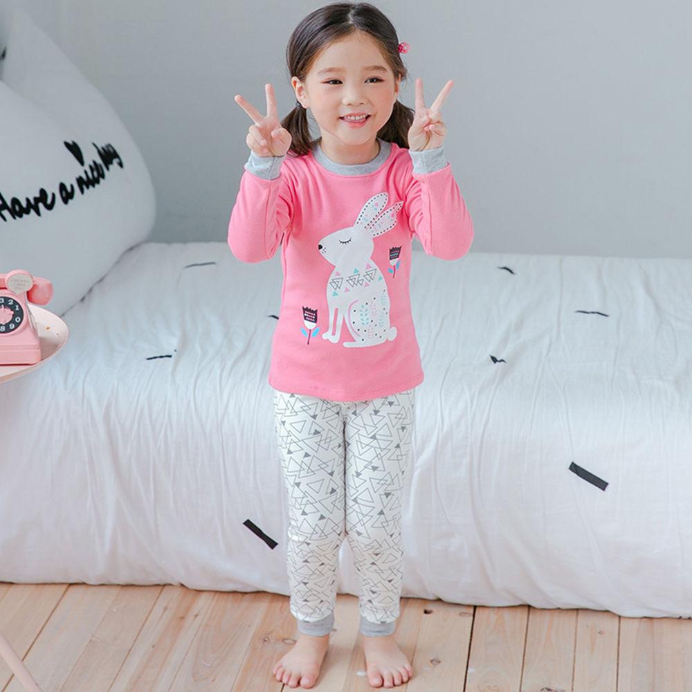 c44228970a Hopscotch - Princes   Princesses - Pink Rabbit Print Nightwear Set