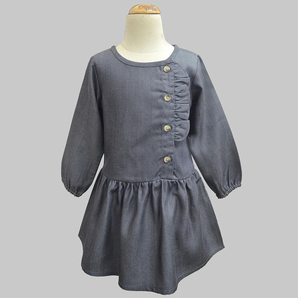 08479e2aac Hopscotch - A.T.U.N - Shadow Grey Chambray Simons Dress