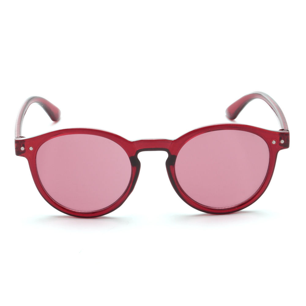 fb0ff2642d Hopscotch - Seven Rainbows - Round Wayfarer Sunglasses- Red