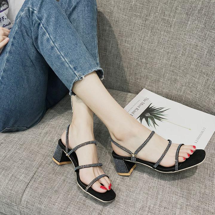 db3be6ca6 Hopscotch - Vogue lady - Women Black Block Heel Sandals