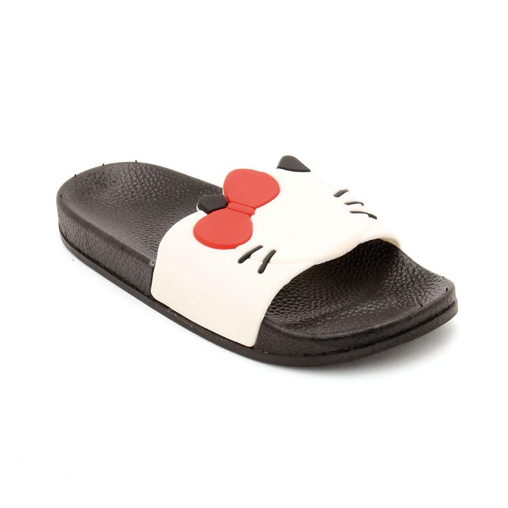 Buy White Kitty Slippers For Girls