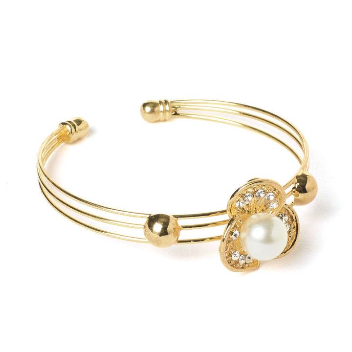 Pearl Flower Bracelet - Gold