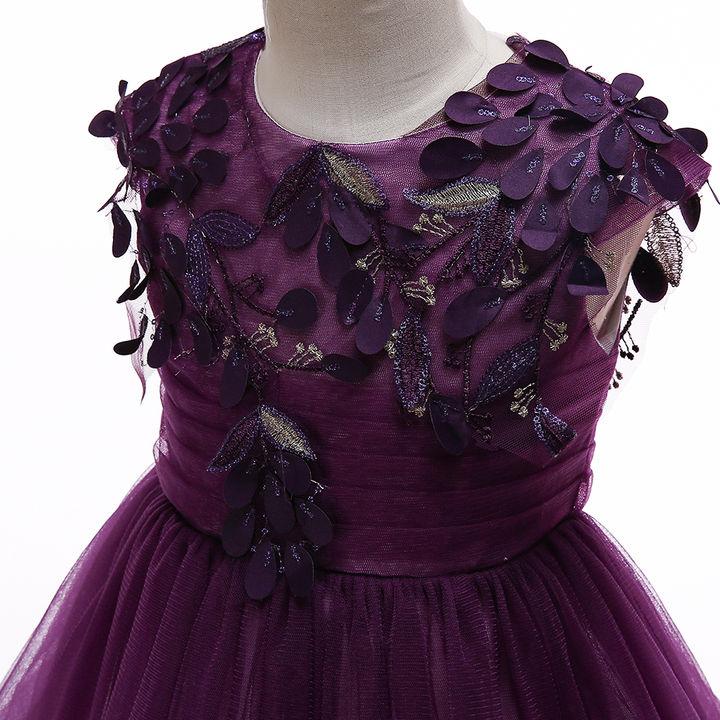 0ecd7c0d534cd0 Hopscotch - Si Rosa - Adorable Purple Applique Sleeveless Dress