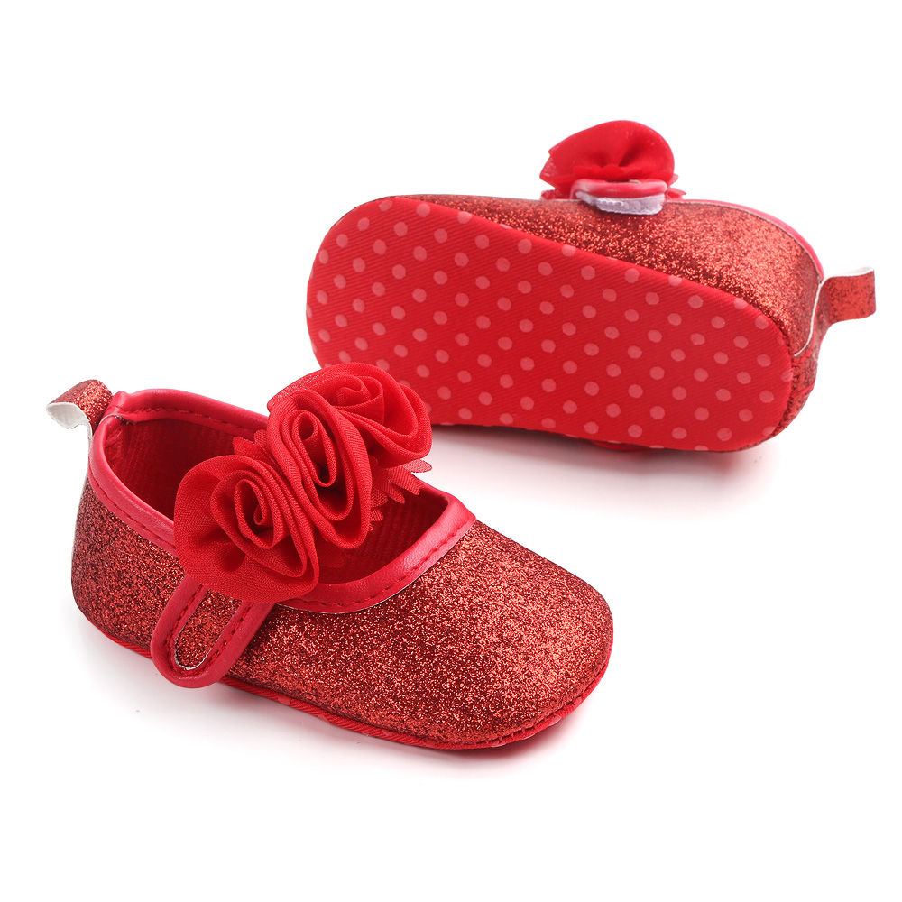 b33731f5c914 Hopscotch - Zia Shoes - Red Glitter Floral Starp Booties