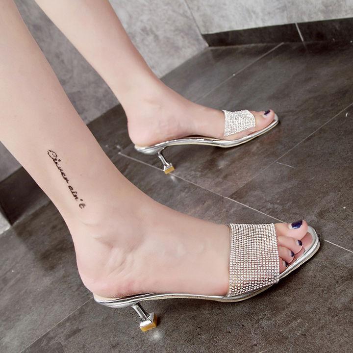 f21e34b19 Hopscotch - Vogue lady - Women Silver Kitten Heel Sandals