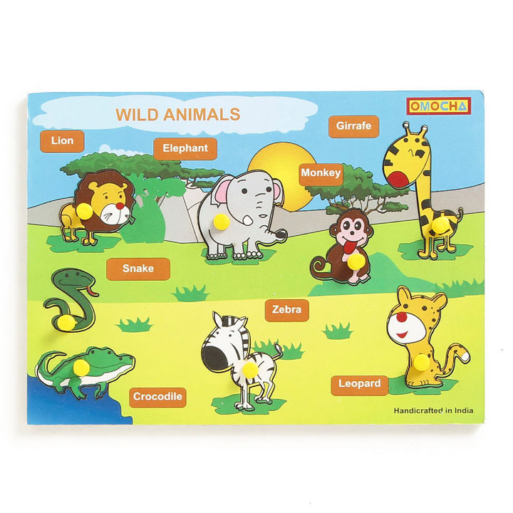 Wild Animals Printed Jigsaw Puzzle Game