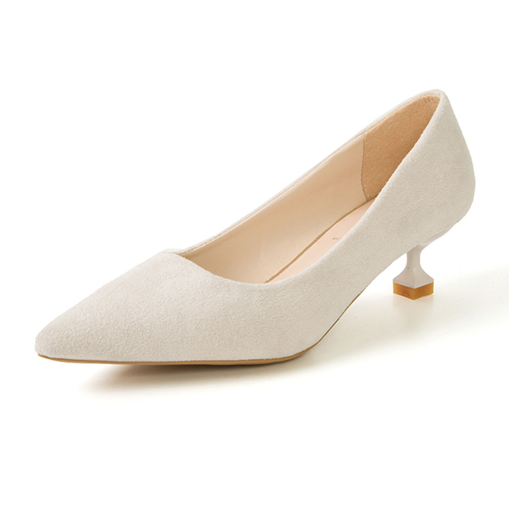 deaeb617c69 Hopscotch - Vogue lady - Women Off White Kitten Heel Pumps