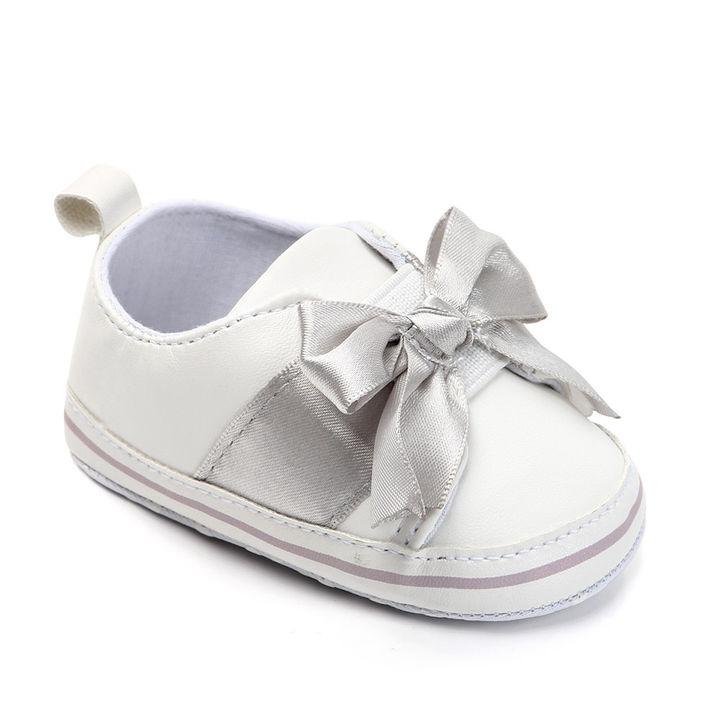 d942a353110d Hopscotch - Zia Shoes - White Bow Applique Booties