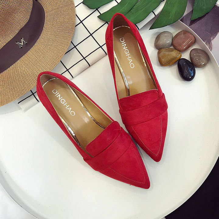 0f8e6b7ca94 Hopscotch - Vogue lady - Women Red Block Heel Pumps