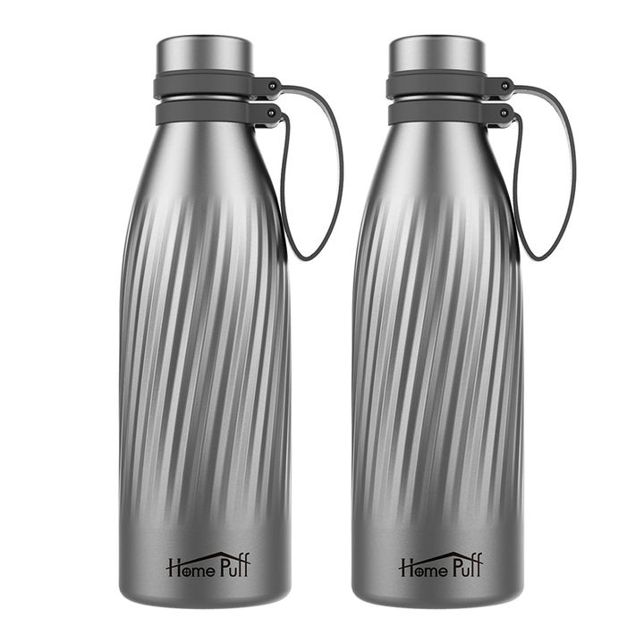 Set Of 2 Thermos Double Wall Vacuum Insulated Stainless Steel Water Bottle