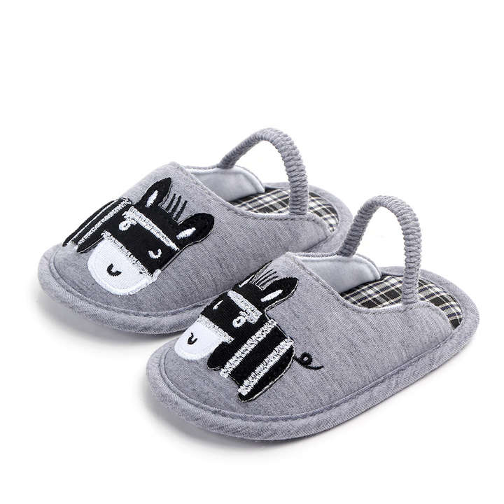 05282ef57651 Hopscotch - Zia Shoes - Gray Cartoon Applique Booties
