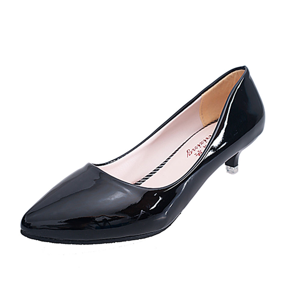 ad0095cead9 Hopscotch - Trendy shop - Women Black Kitten Heel Pumps