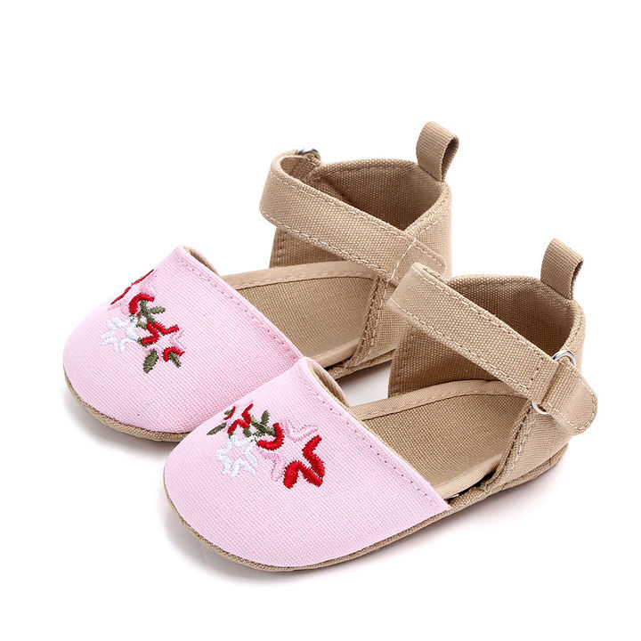 9979ce98d927 Hopscotch - Zia Shoes - Pink Embroidered Booties with Strap