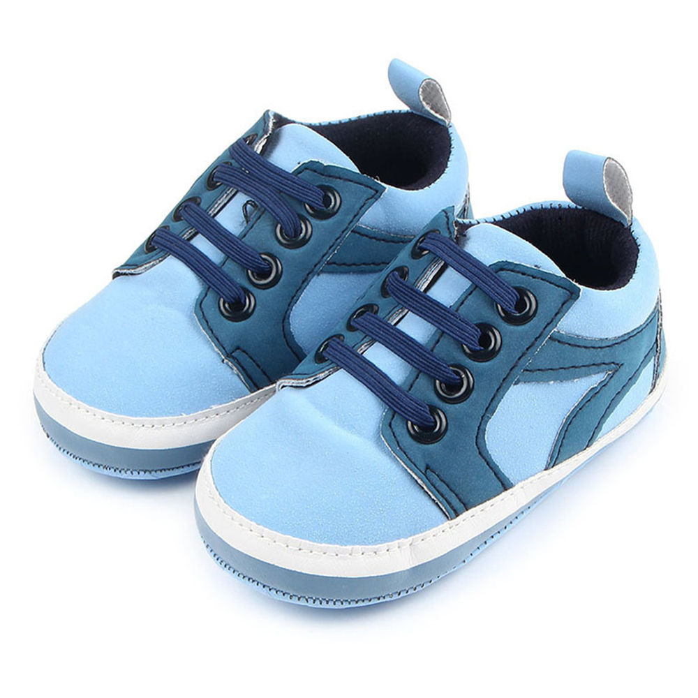 e8863db279f6 Hopscotch - Zia Shoes - Blue Lace Up Infant Shoes