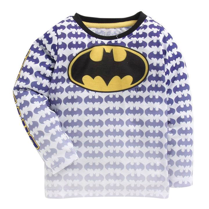 21df16bbd Hopscotch - Game Begins - Batman Logo Print Full Sleeves Blue T-Shirt